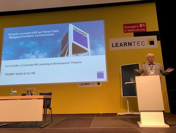 Das Projekt LidA war Thema des Learntec-Vortrags 2020 von Gerd Duffke von Trumpf GmbH 6 Co. KG